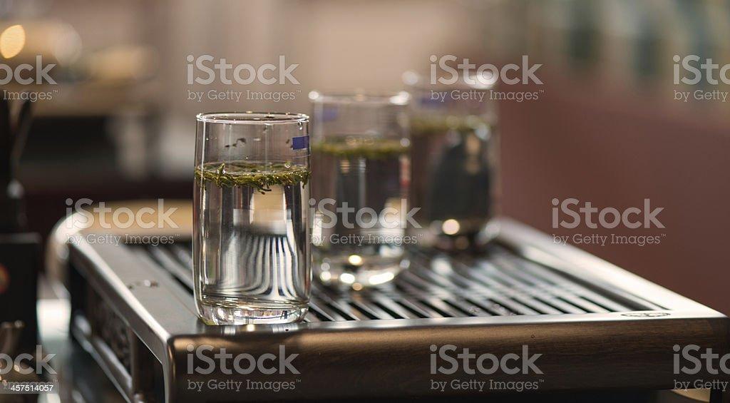 Three glasses stock photo