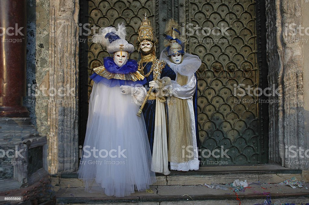 Three going to Carnivale royalty-free stock photo