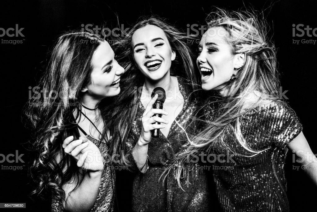 Three gorgeous women stock photo