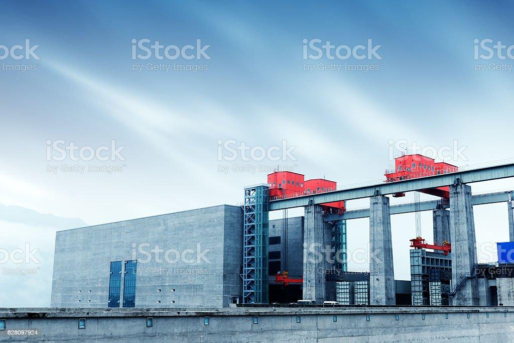Three Gorges Dam, China stock photo
