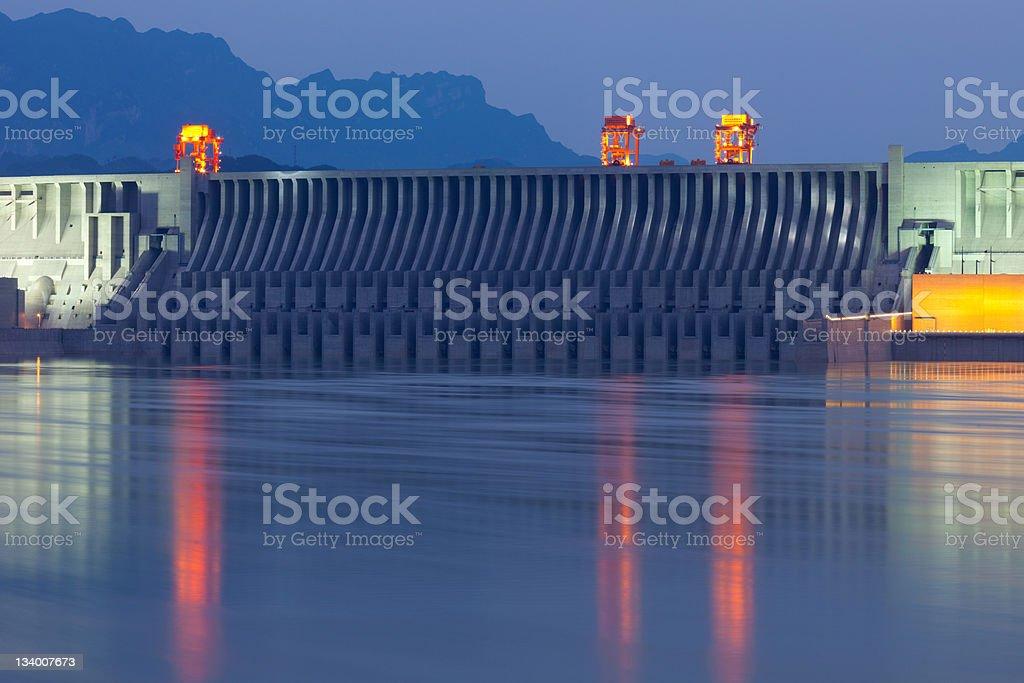 three gorges dam detail stock photo