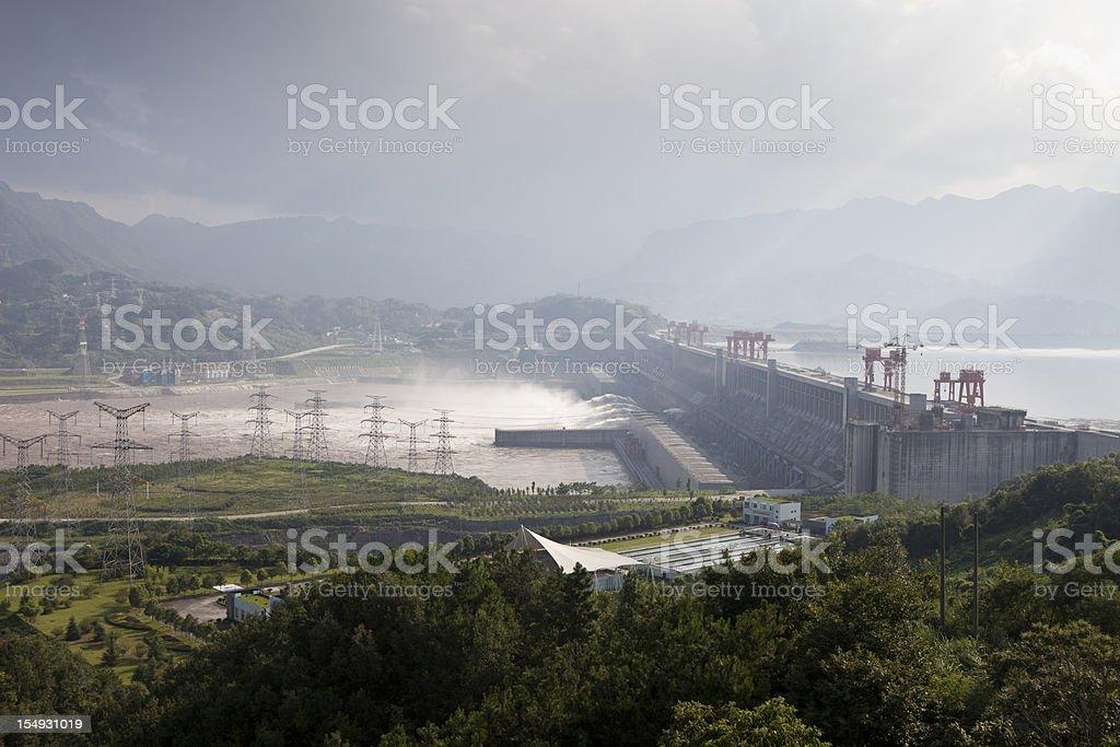 Three Gorges Dam of China stock photo