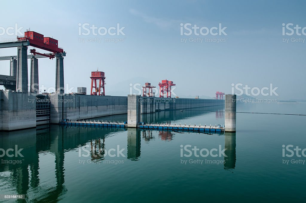 Three Gorges Dam stock photo