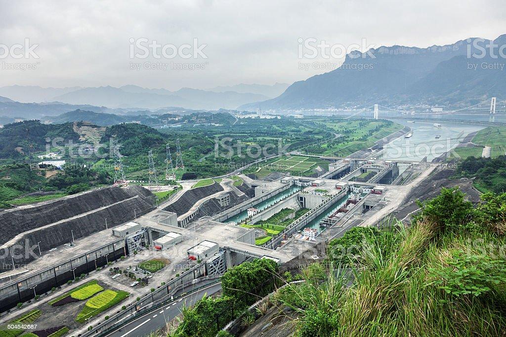 Three Gorges Dam Ship Locks stock photo