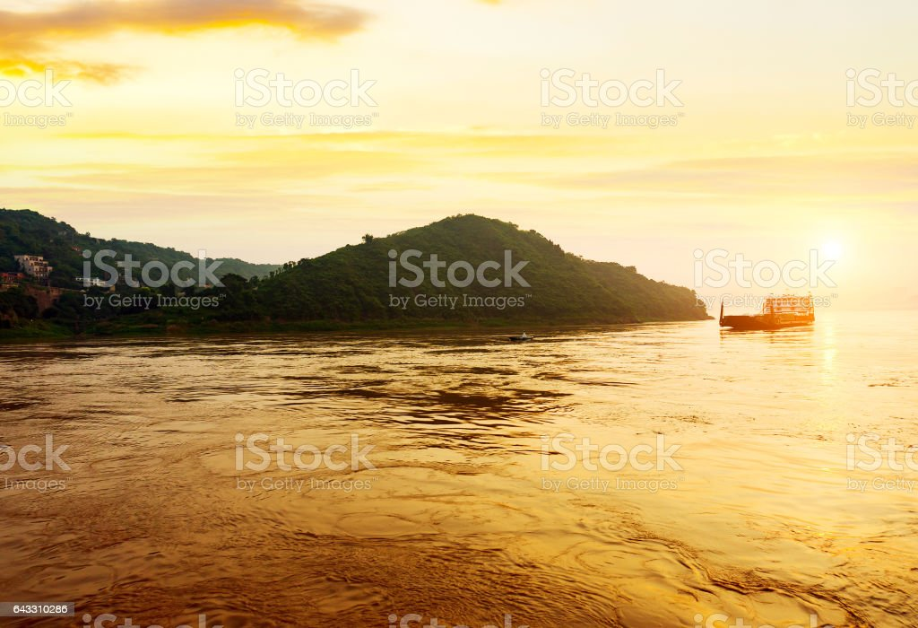 Three Gorges in the morning stock photo