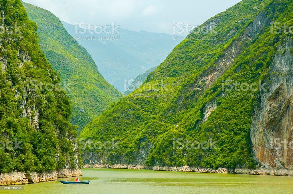 Three gorges, Yangtze river stock photo