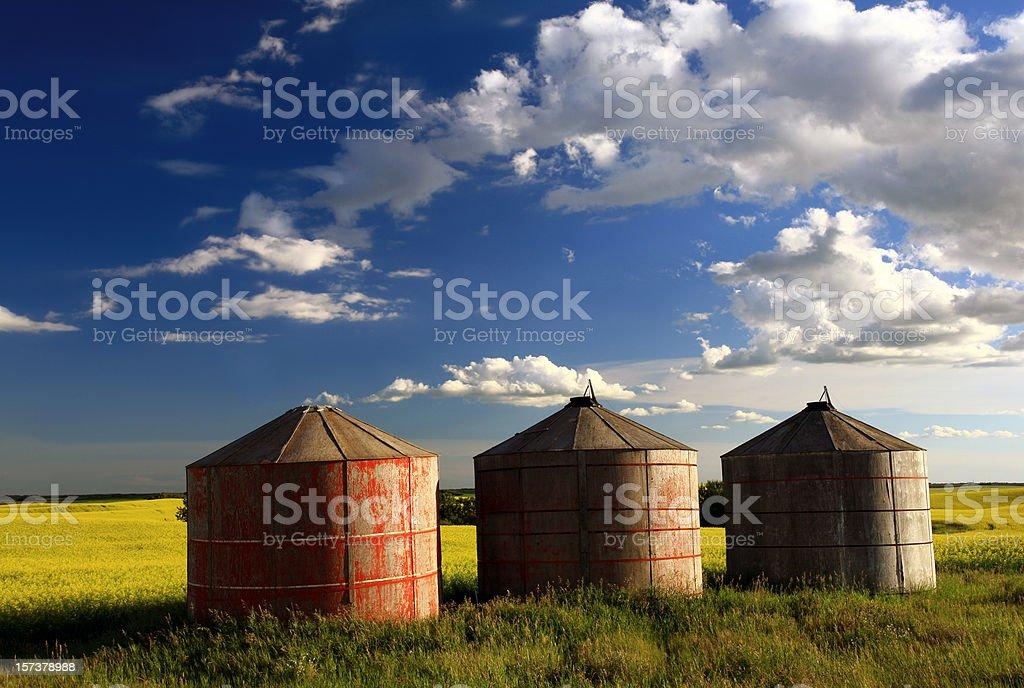 Three Granaries royalty-free stock photo