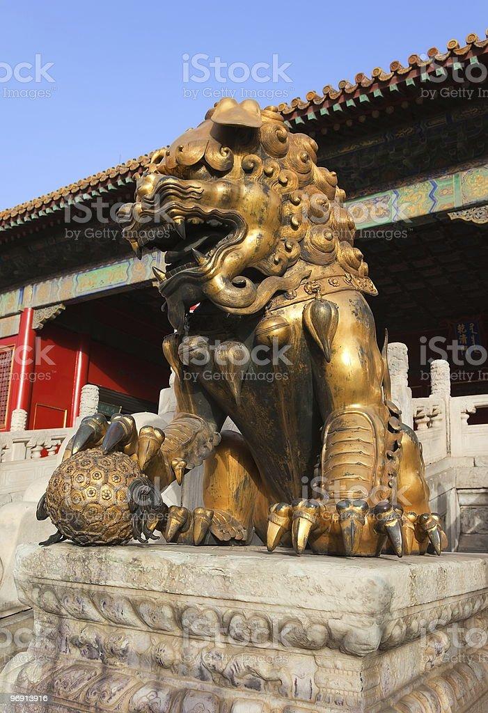Three Great Halls Palace. Forbidden City. Beijing. China. royalty-free stock photo
