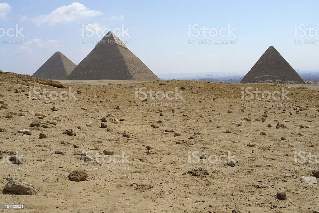 Three great pyramides royalty-free stock photo