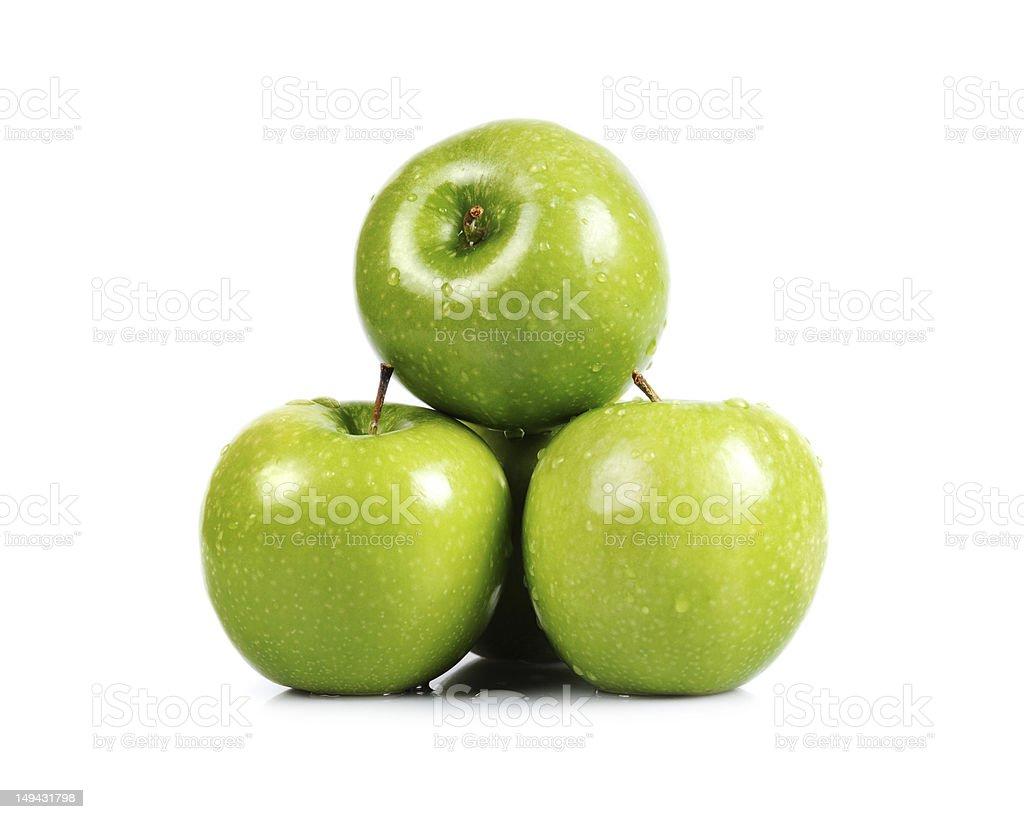 Three Green Apples - XXLarge royalty-free stock photo