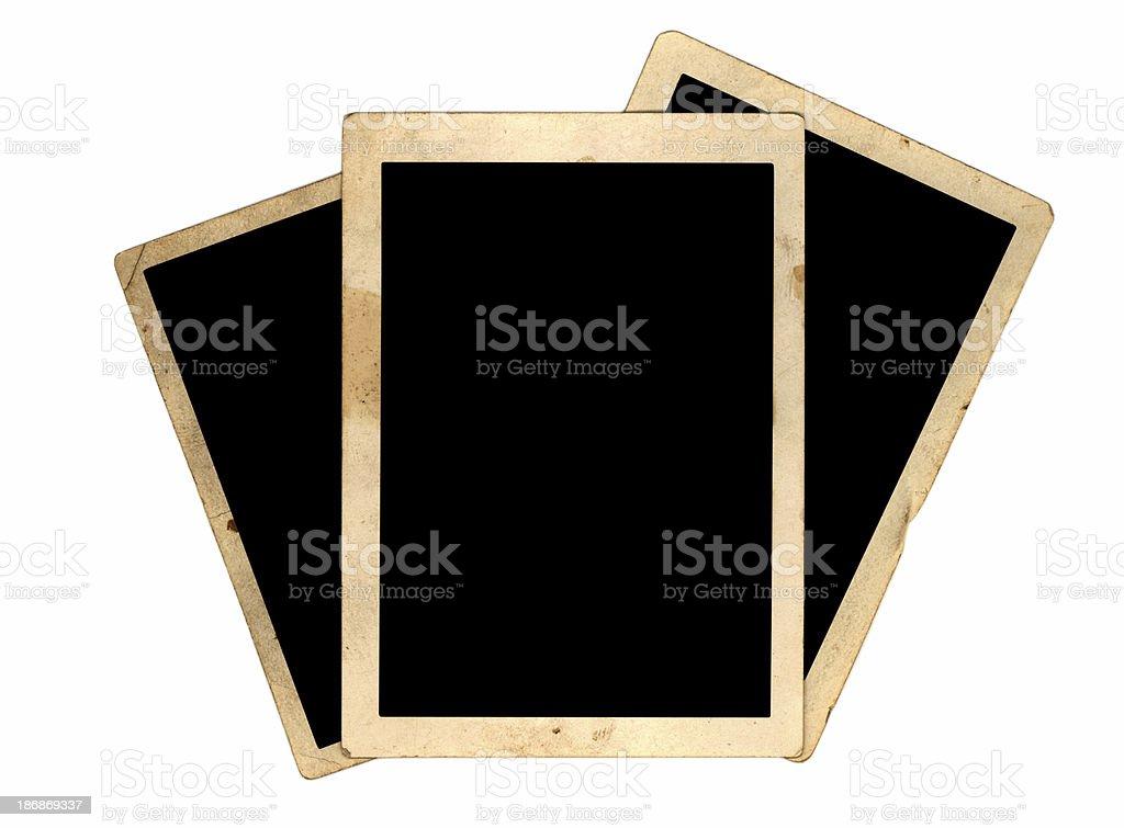 three grunge frames royalty-free stock photo