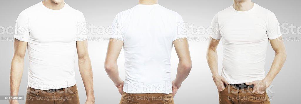 three guy in T-shirt royalty-free stock photo