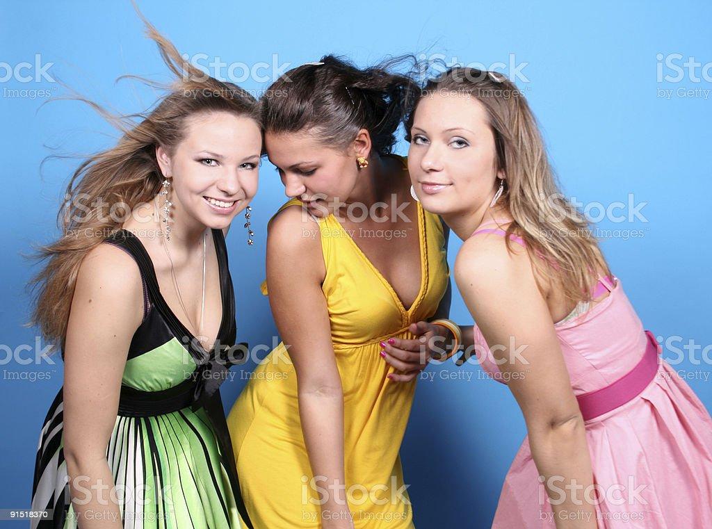 Three happy friends royalty-free stock photo