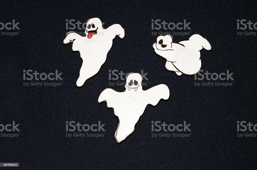 Three Happy Ghosts royalty-free stock photo