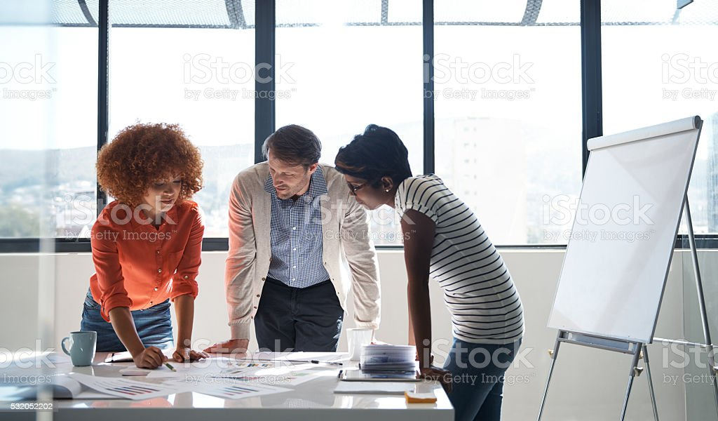 Three heads are better than one stock photo