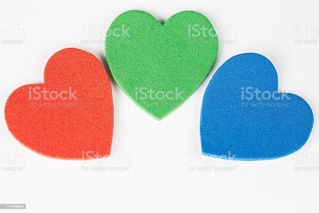Three Hearts royalty-free stock photo