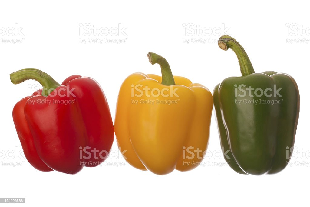 Three Hearty Peppers royalty-free stock photo