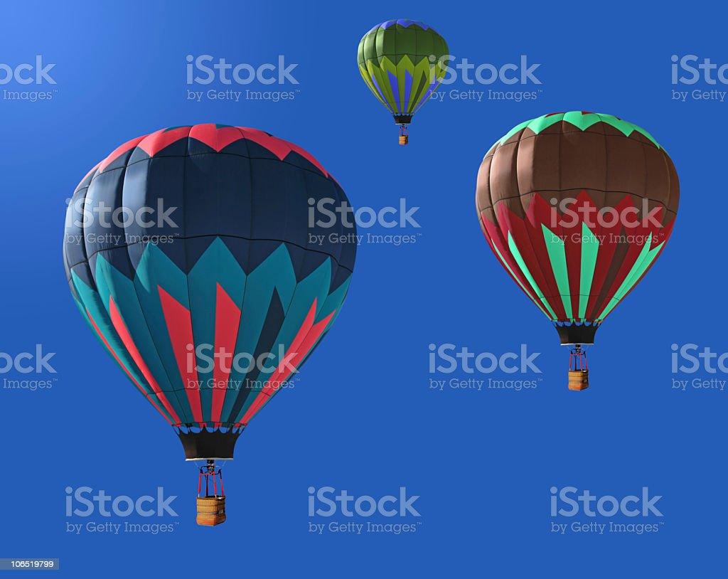 Three Hot  Air Balloons royalty-free stock photo