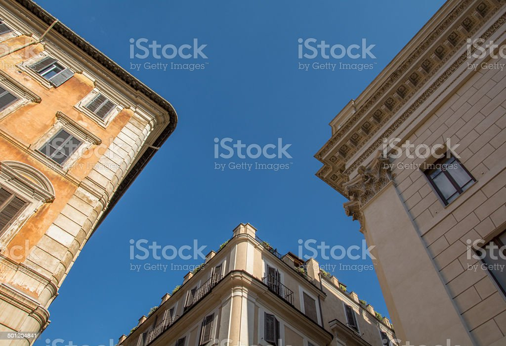 Three Houses in Rome royalty-free stock photo