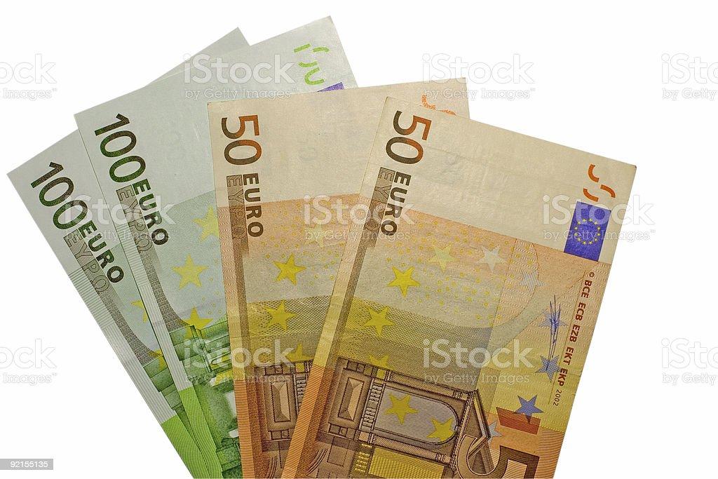 three hundred euro royalty-free stock photo