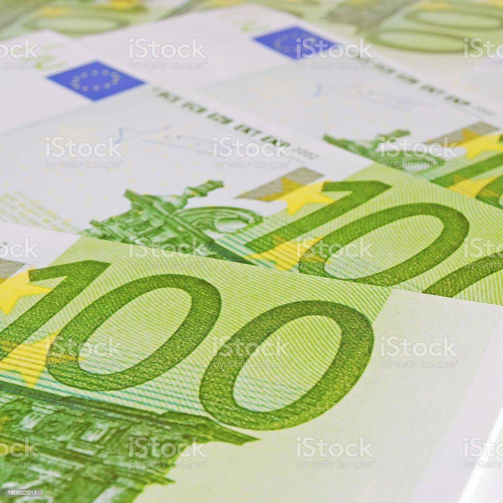 three hundred euros royalty-free stock photo