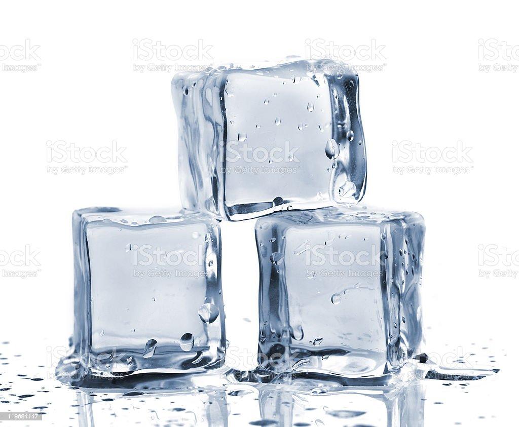 Three ice cubes royalty-free stock photo