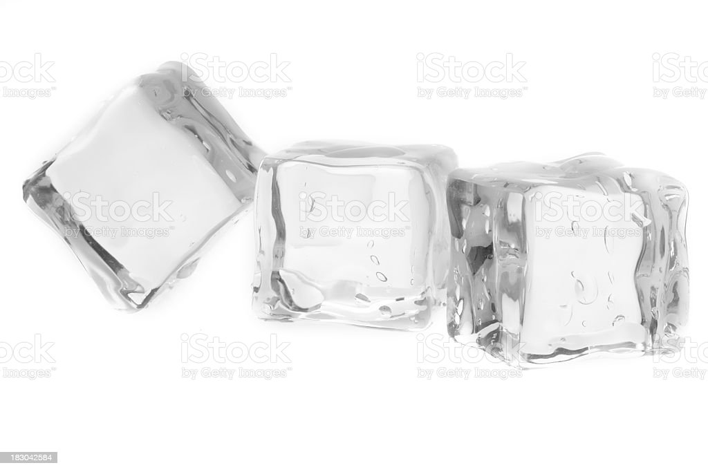 Three icecubes stock photo