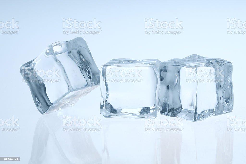 Three icecubes royalty-free stock photo