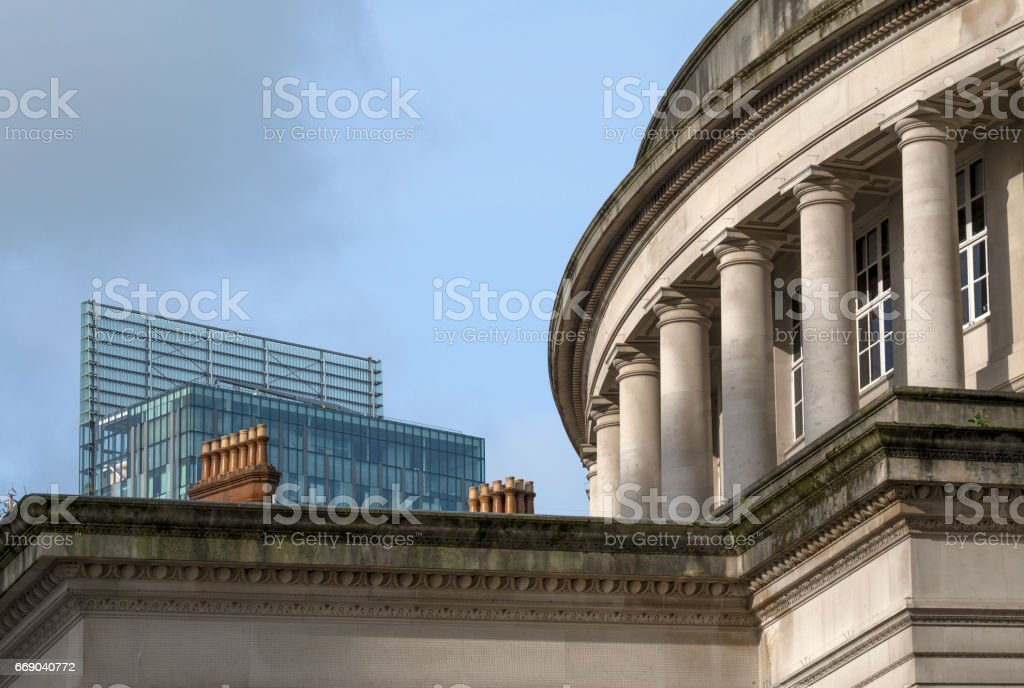 Three Iconic Manchester Roof Tops stock photo