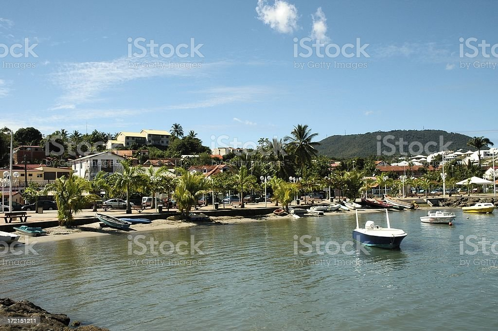'Trois Ilets' harbor royalty-free stock photo