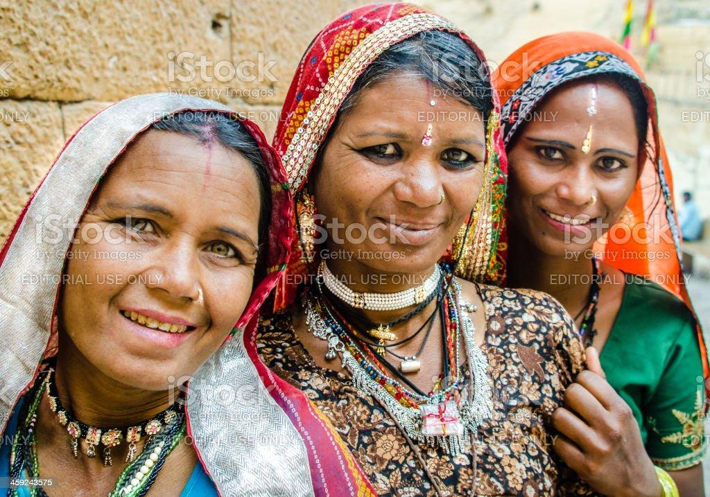 Three Indian women stock photo
