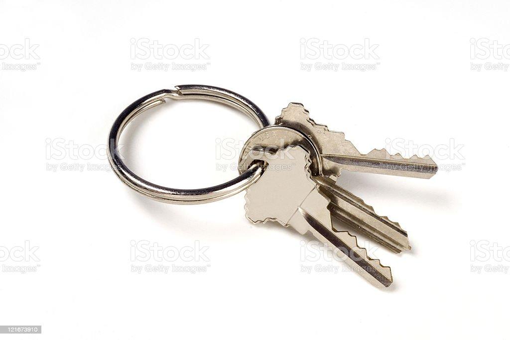 three Keys on a ring royalty-free stock photo