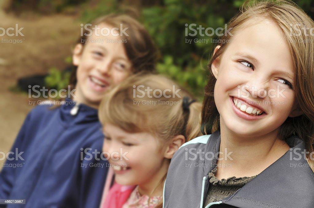 Three Kids Smiling stock photo