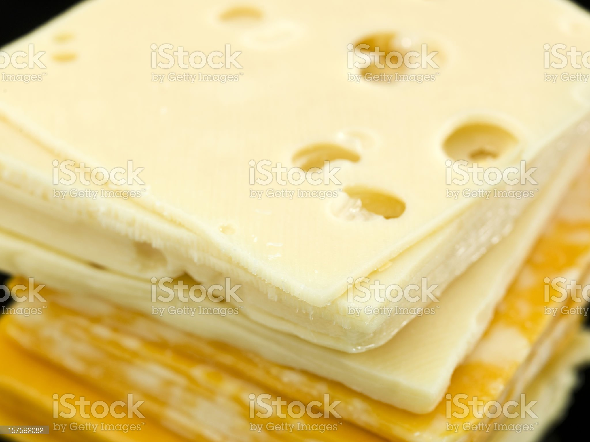 Three kind of sliced cheese royalty-free stock photo