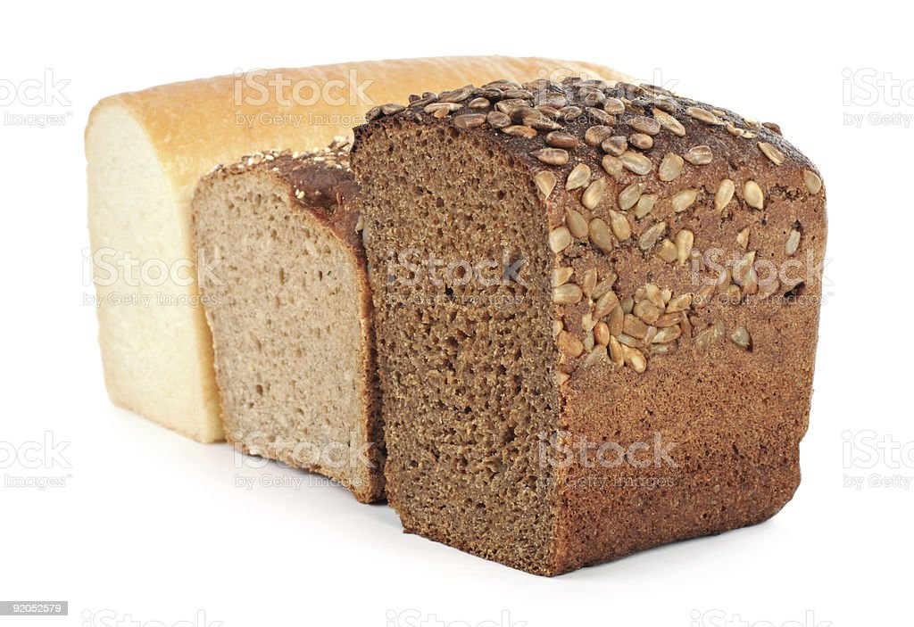 Three kinds of bread royalty-free stock photo