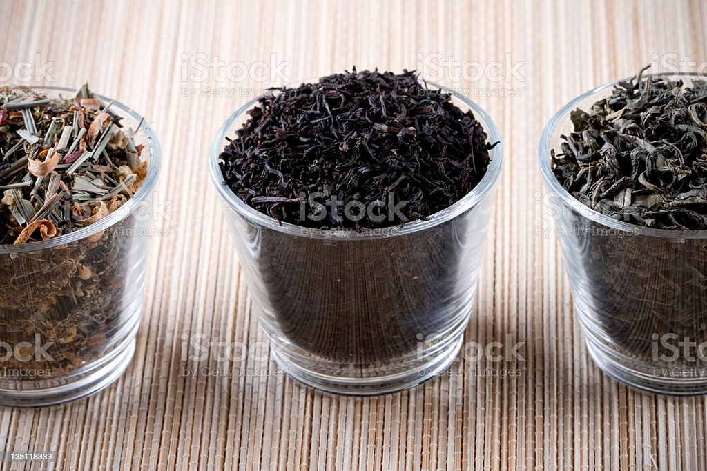 three kinds of dry tea royalty-free stock photo