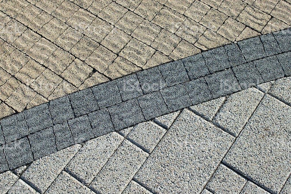 Three kinds pavement bricks texture royalty-free stock photo