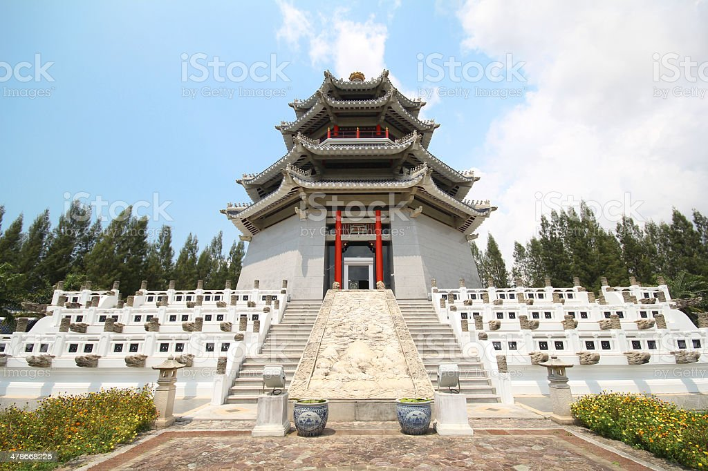 Three Kingdoms Park, Pattaya Thailand stock photo