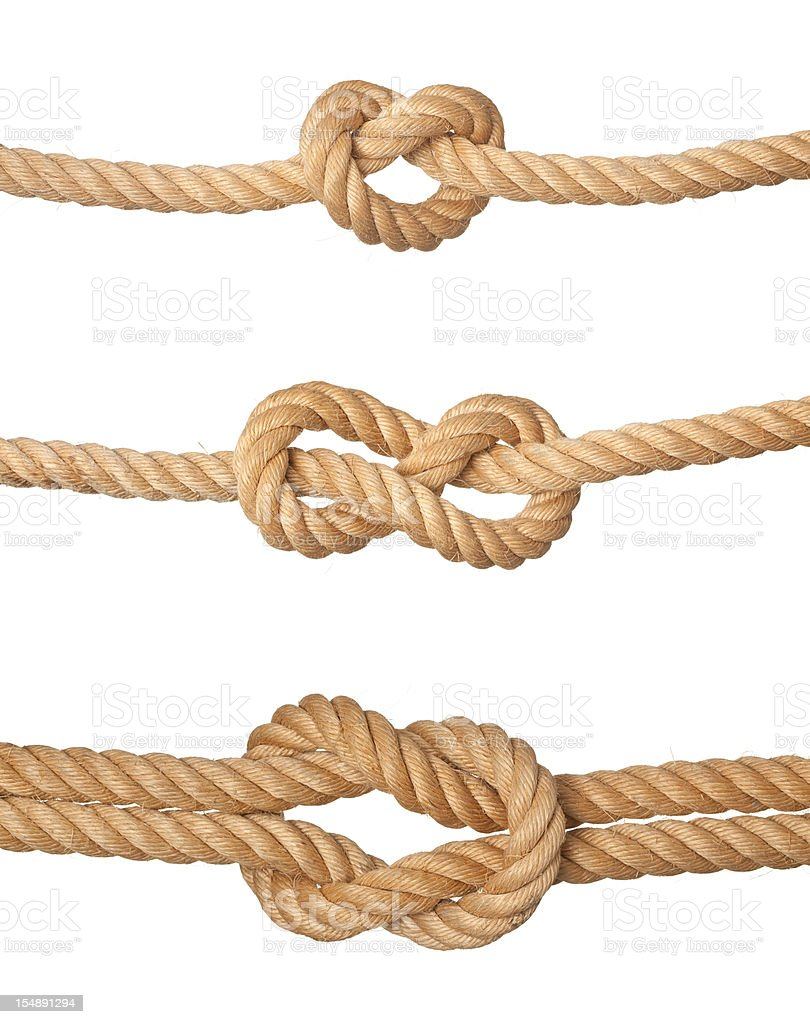 Three knots. stock photo