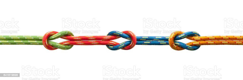 Three knots stock photo