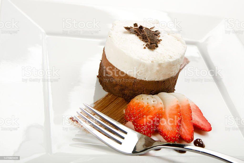 Three Layer Chocolate mousse Cake royalty-free stock photo