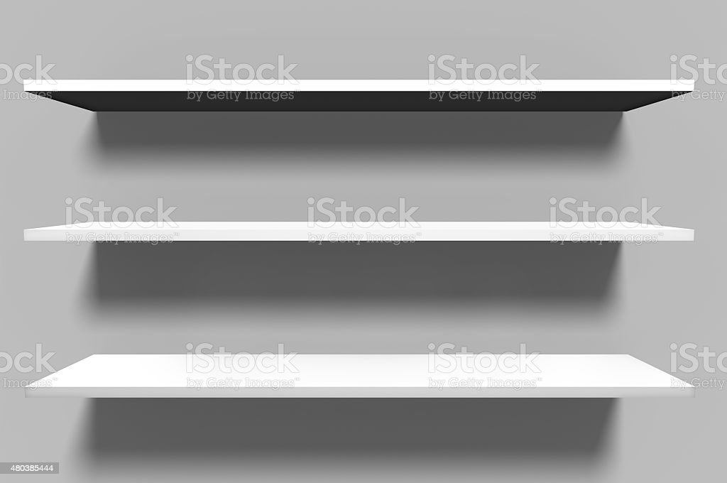 Three Layered Shelves stock photo