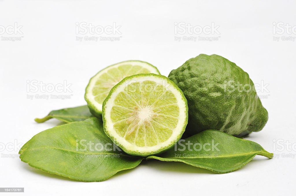 Three leech lime fruits stock photo