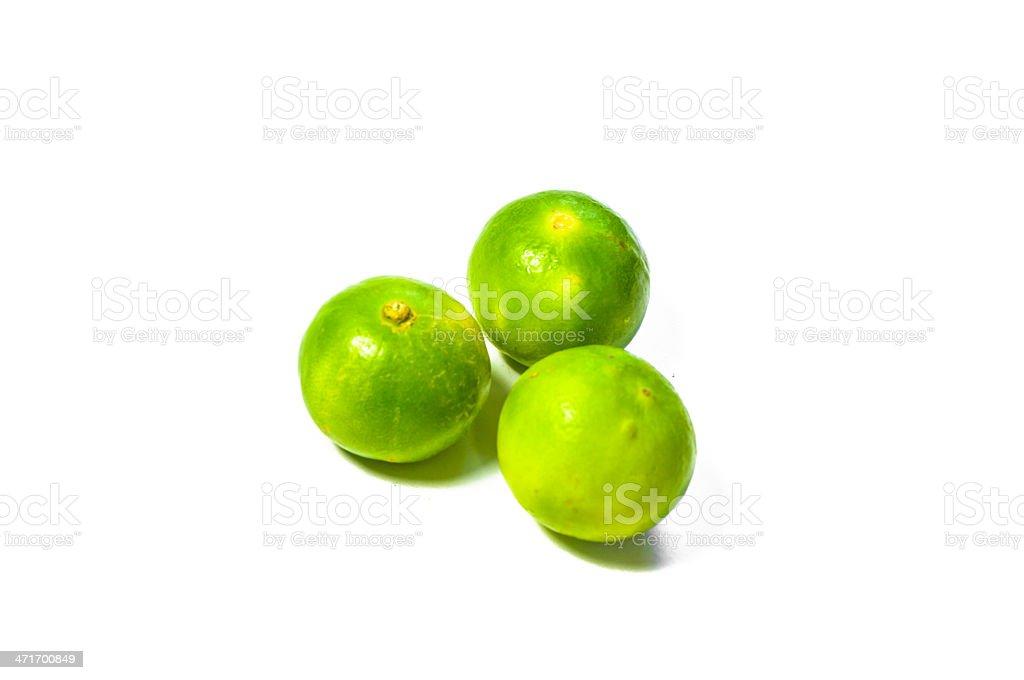 three lemon isolated stock photo