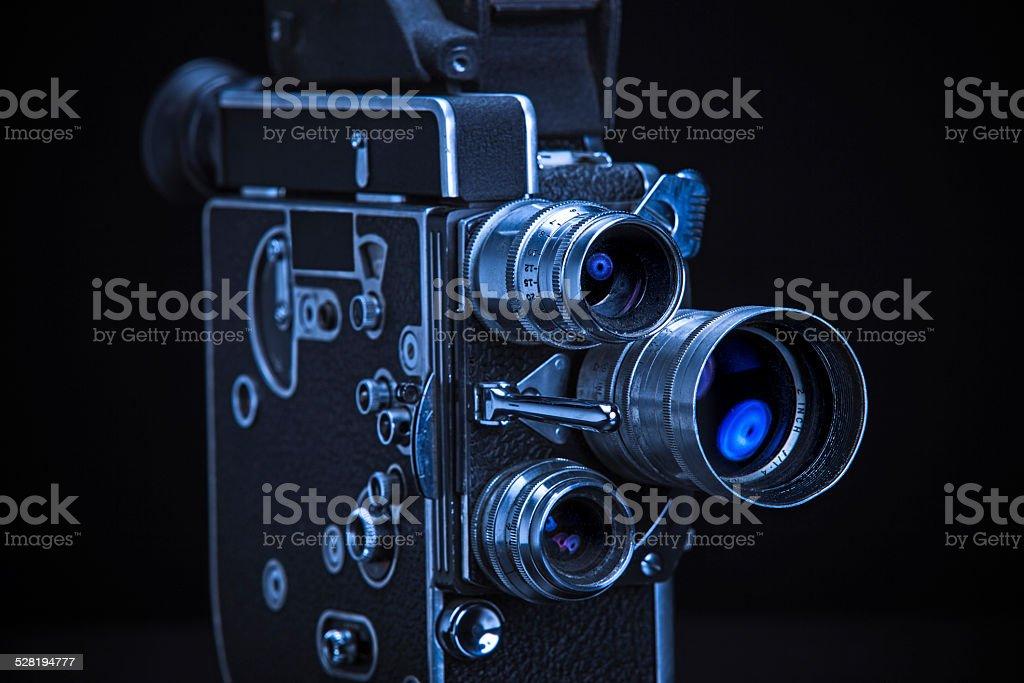 Three Lens Home Movie Camera stock photo