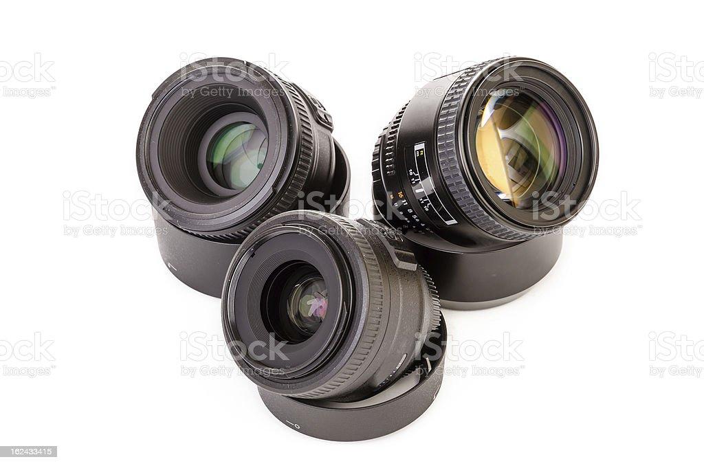 Three lenses royalty-free stock photo