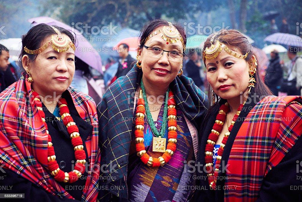 Three Limbu Women stock photo