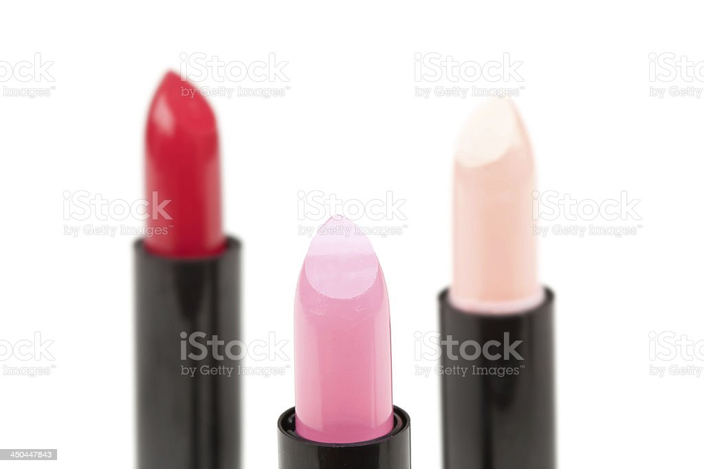 Three lipsticks royalty-free stock photo
