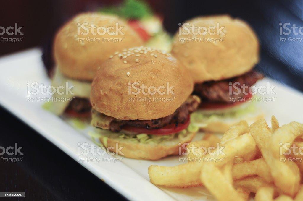 Three little buns full of goodness stock photo