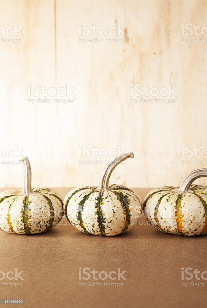 Three Little Gourds royalty-free stock photo